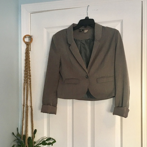 H&M Jackets & Blazers - Gray Blazer - Vintage H&M with Polka Dot lining